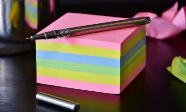 bloc post it couleur